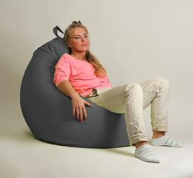 Кресло груша  XXL Стандарт Серое мешок