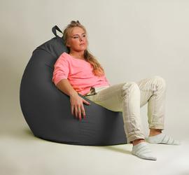 "Кресло мешок ""Груша"" XXL стандарт Черное"