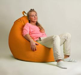 """Кресло мешок """"Груша"""" XXL стандарт Оранжевая"""