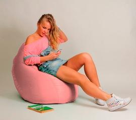 Кресло мешок Груша Детская Розовая