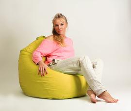Кресло мешок груша Стандарт Желтая