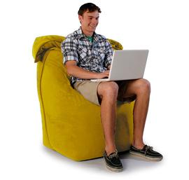 """Кресло мешок """"Трон"""" желтое"""