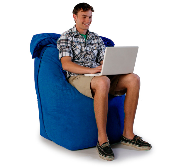 "Кресло мешок ""Трон"" синее"